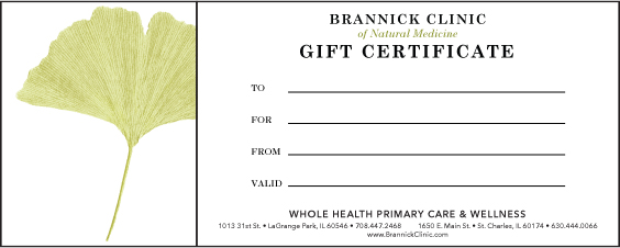 Gift Certificate | Brannick Clinic